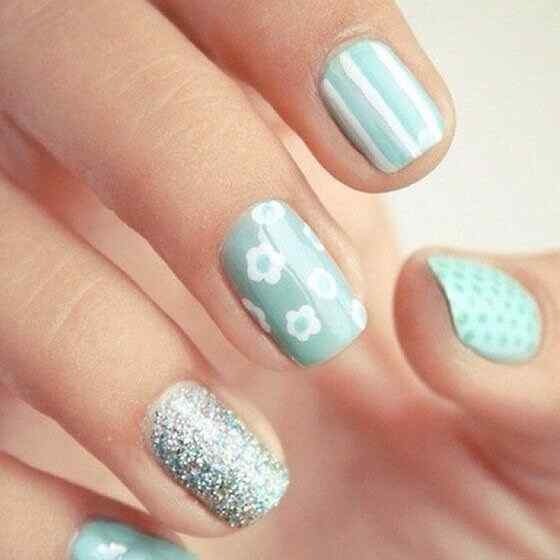 Unas celeste  - light blue nails (32)