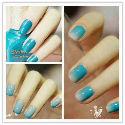 Unas celeste  - light blue nails (33)