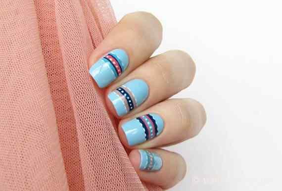 Unas celeste  - light blue nails (34)