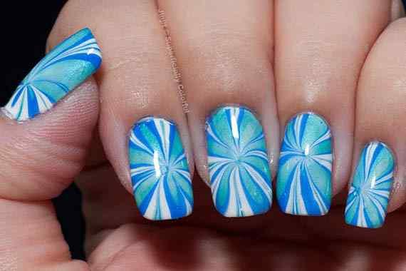 Unas celeste  - light blue nails (36)