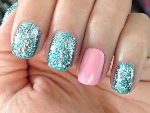 Unas celeste  - light blue nails (4)