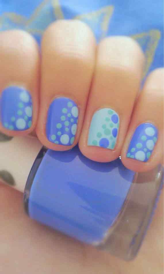Unas celeste  - light blue nails (41)