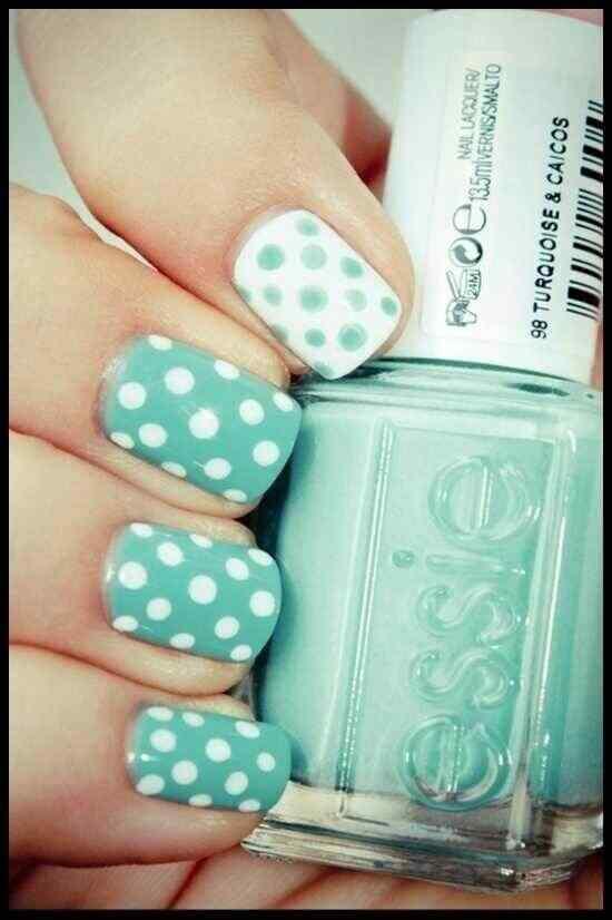 Unas celeste  - light blue nails (46)