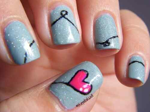 Unas celeste  - light blue nails (47)