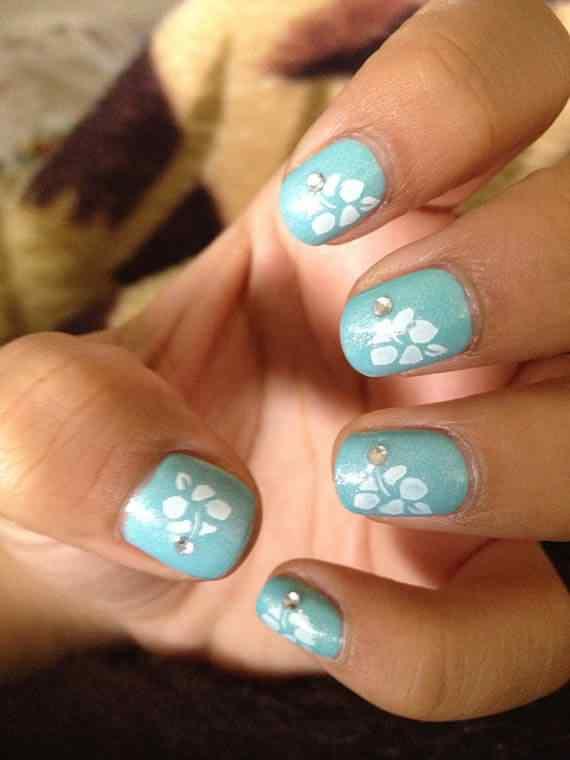 Unas celeste  - light blue nails (5)