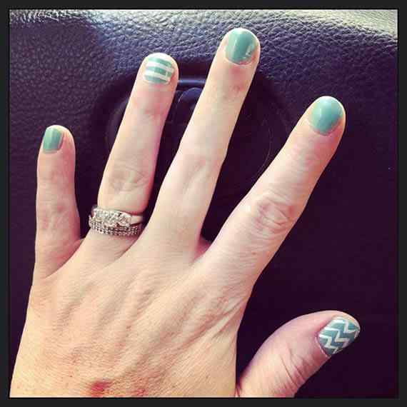 Unas celeste  - light blue nails (50)