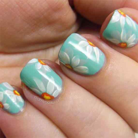 Unas celeste  - light blue nails (51)
