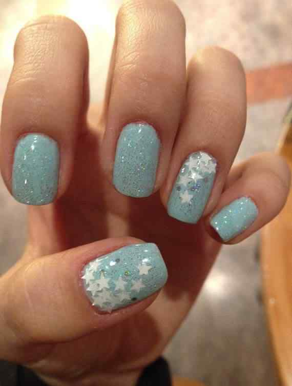 Unas celeste  - light blue nails (54)