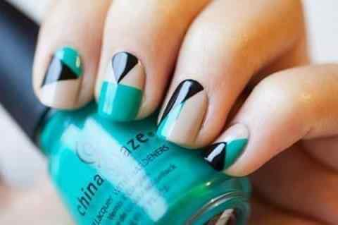 Unas celeste  - light blue nails (55)