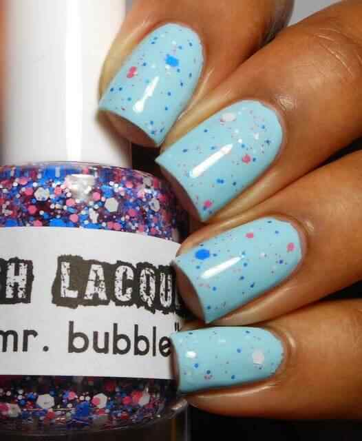 Unas celeste  - light blue nails (56)
