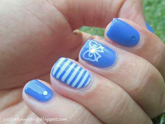 Unas celeste  - light blue nails (6)