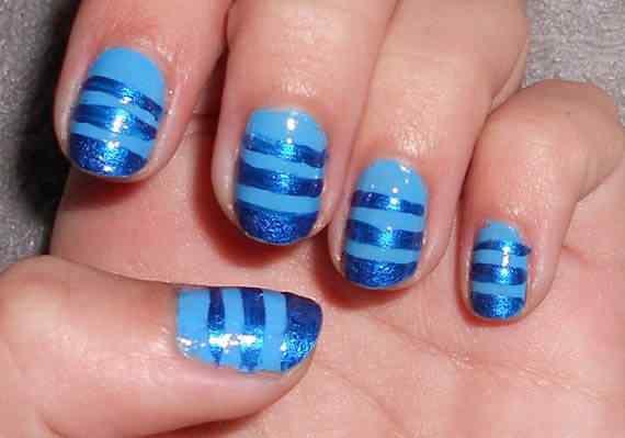 Unas celeste  - light blue nails (8)