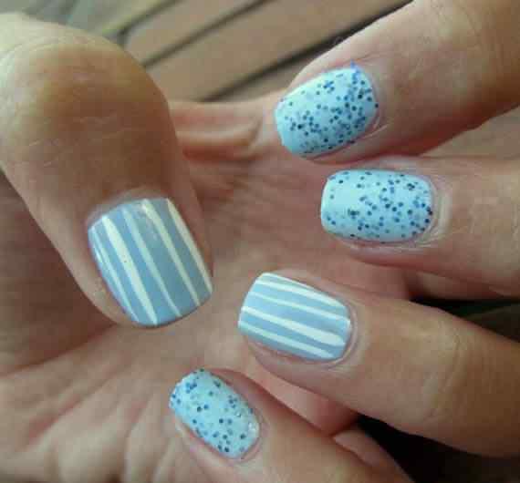 Unas celeste  - light blue nails (9)