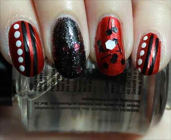 Unas color rojo - red nails art (11)