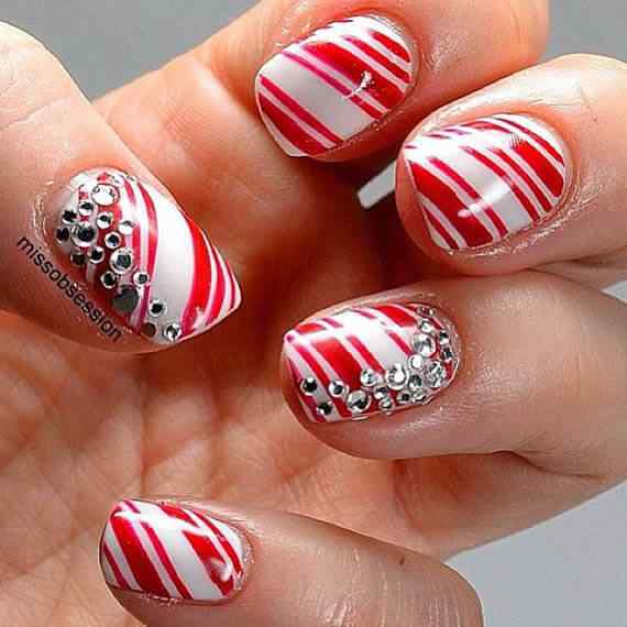 Unas color rojo - red nails art (12)