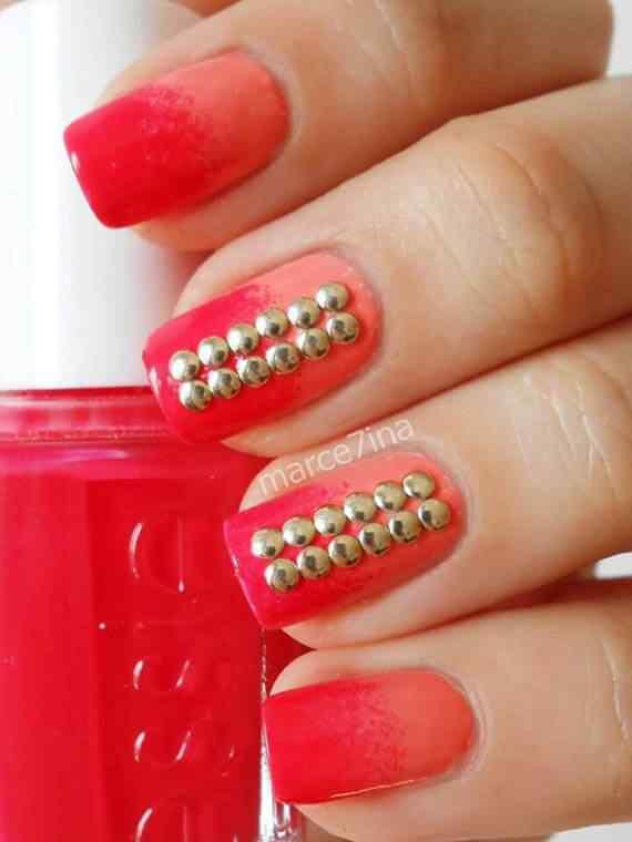 Unas color rojo - red nails art (14)