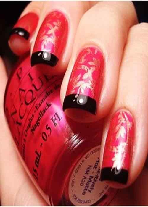 Unas color rojo - red nails art (16)