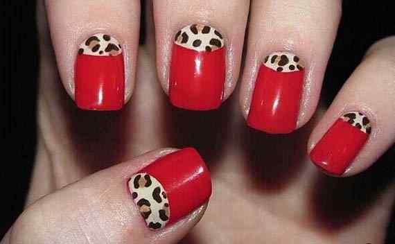 Unas color rojo - red nails art (18)