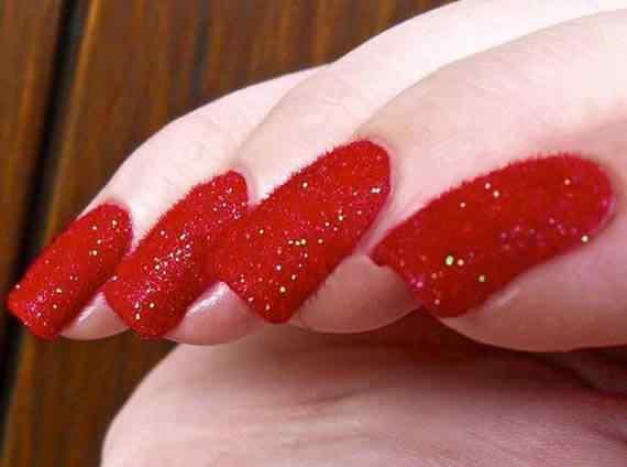 Unas color rojo - red nails art (19)