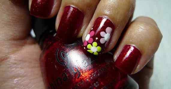 Unas color rojo - red nails art (20)