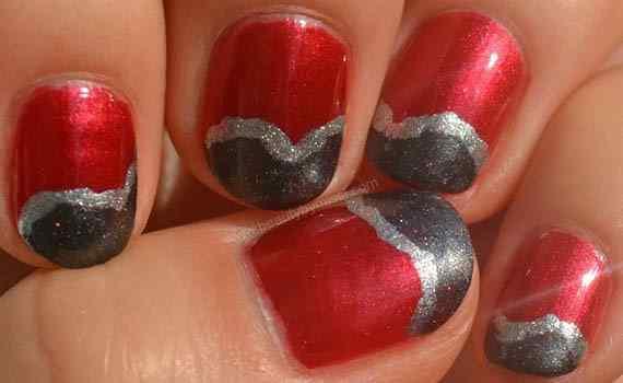 Unas color rojo - red nails art (21)