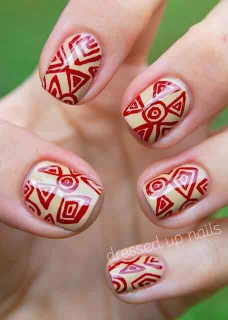 Unas color rojo - red nails art (22)