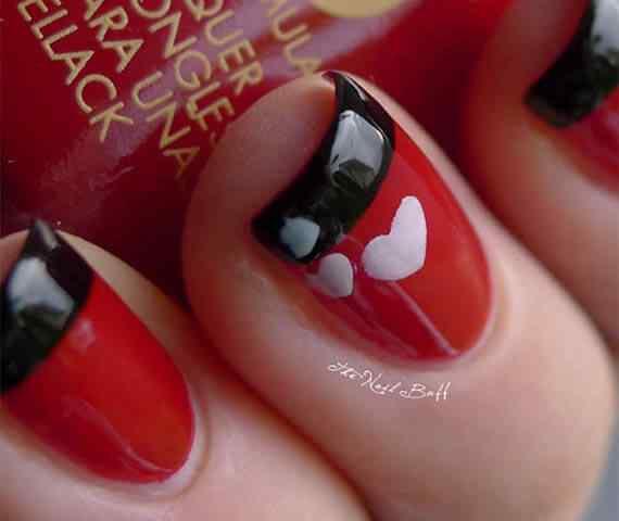 Unas color rojo - red nails art (25)