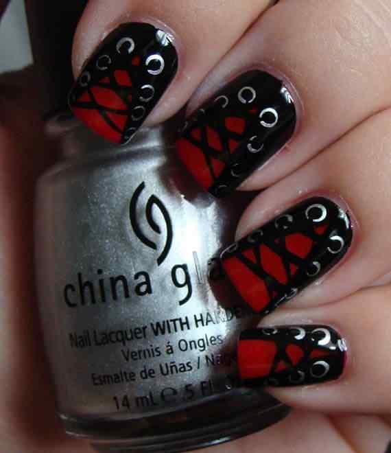 Unas color rojo - red nails art (26)