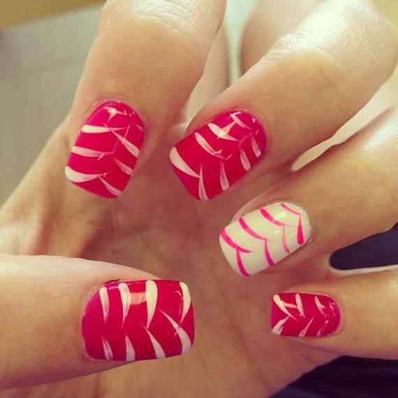 Unas color rojo - red nails art (27)