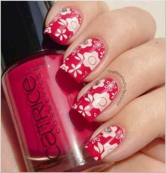 Unas color rojo - red nails art (28)