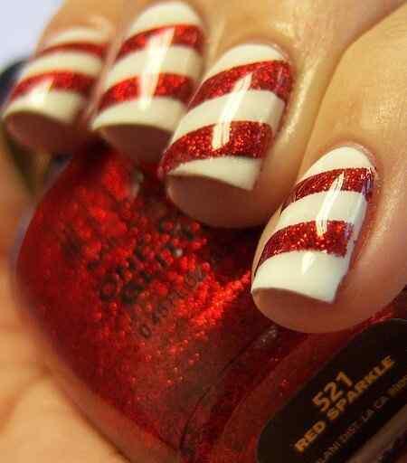 Unas color rojo - red nails art (29)