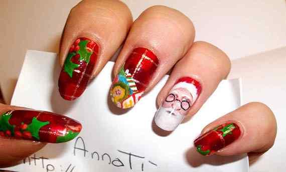 Unas color rojo - red nails art (31)