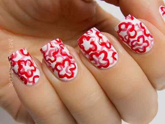 Unas color rojo - red nails art (34)
