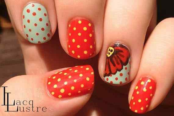 Unas color rojo - red nails art (35)