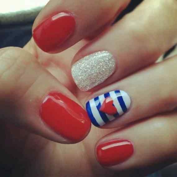 Unas color rojo - red nails art (36)