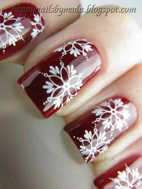 Unas color rojo - red nails art (37)