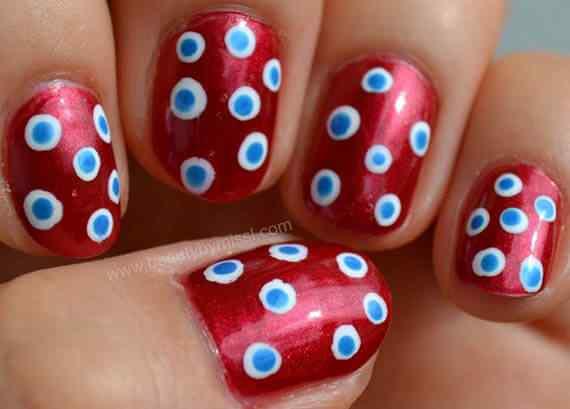Unas color rojo - red nails art (39)