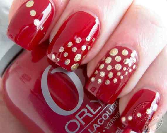Unas color rojo - red nails art (40)