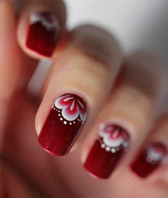 Unas color rojo - red nails art (41)