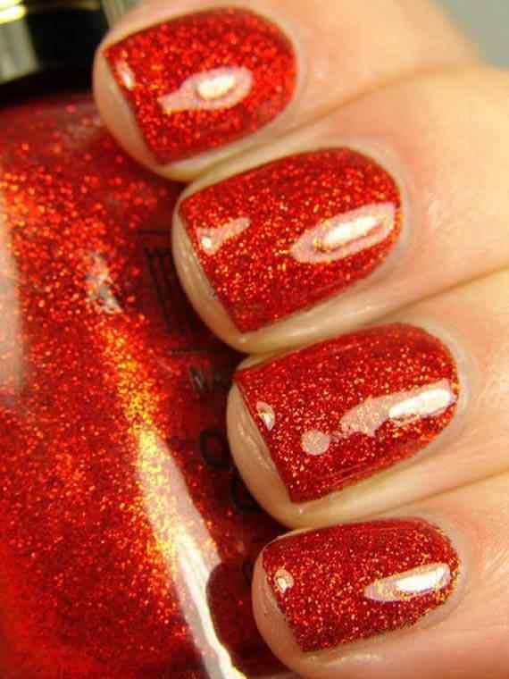 Unas color rojo - red nails art (44)