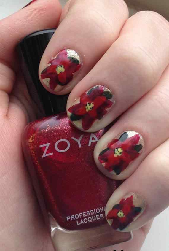 Unas color rojo - red nails art (45)
