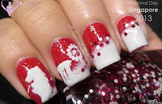 Unas color rojo - red nails art (46)