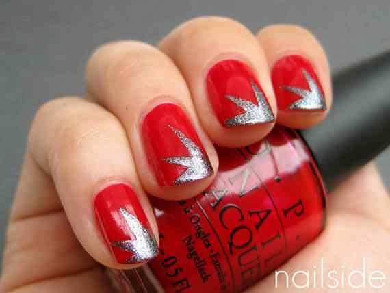 Unas color rojo - red nails art (48)