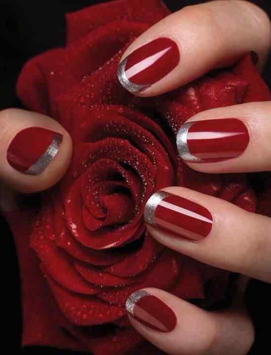 Unas color rojo - red nails art (5)