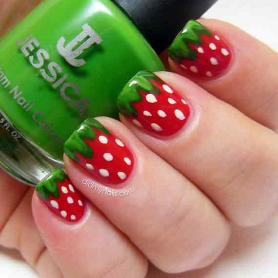 Unas color rojo - red nails art (52)