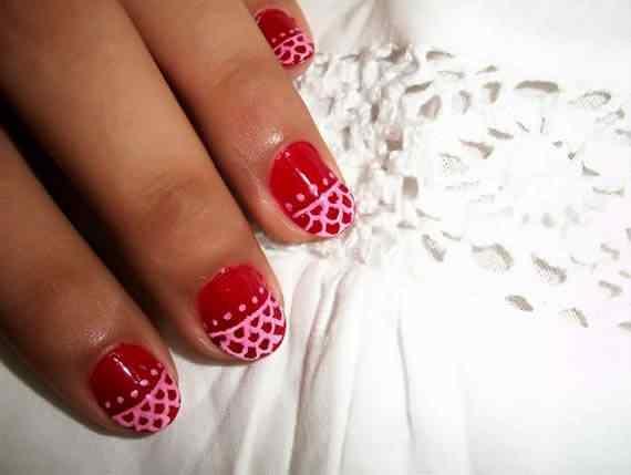 Unas color rojo - red nails art (55)