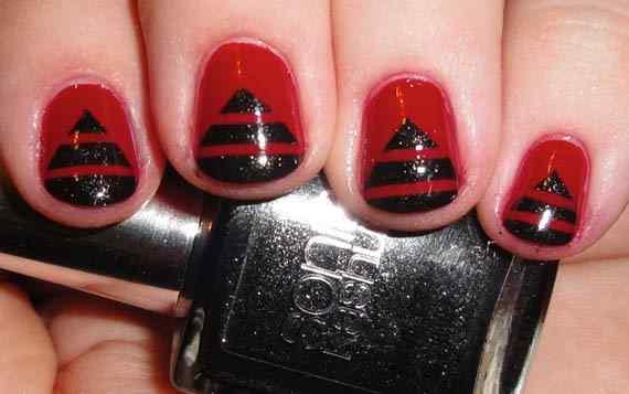 Unas color rojo - red nails art (56)