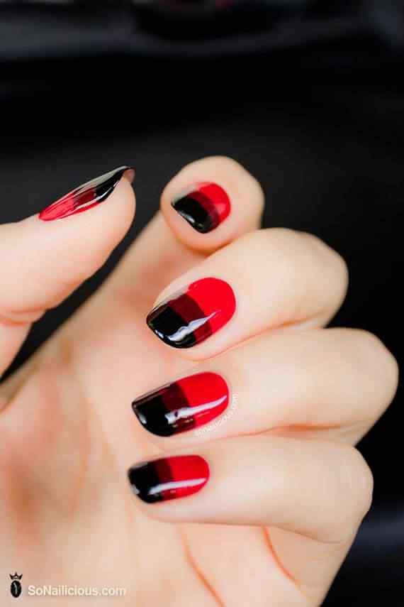 Unas color rojo - red nails art (57)