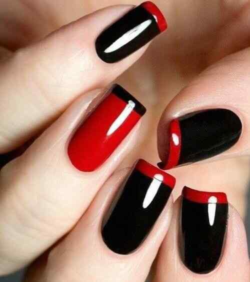 Unas color rojo - red nails art (58)