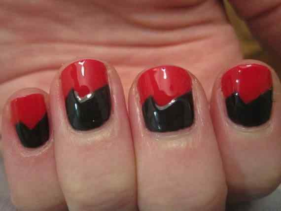 Unas color rojo - red nails art (59)